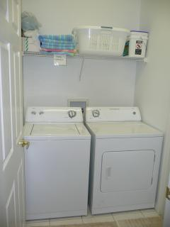 Laundry area for guest use