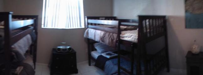 TWO BUNK BEDS IN THIS ONE, IT SLEEPS FOUR FRINDS, OR THE KIDS