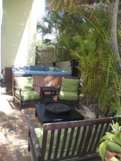 Hot Tub And Gas Fire Pit
