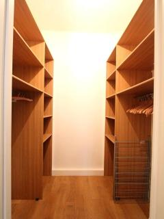 The Walk-in Closet in the Master Bedroom