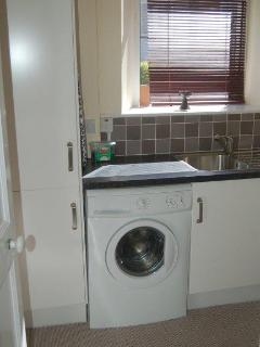 Utility room washing machine