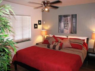 Bedroom with King Sized Bed and Memory Foam Mattress, Flat Screen TV