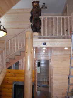7 ft Grizzly Bear welcomes our guests