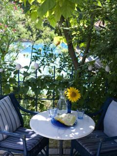 Countryhouse Villa La Rogaia Umbria, Apartment La Pipo: Balcony at the pool