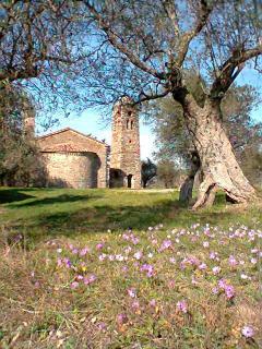 Countryhouse Villa La Rogaia Umbria, Chiesa San Vito in spring