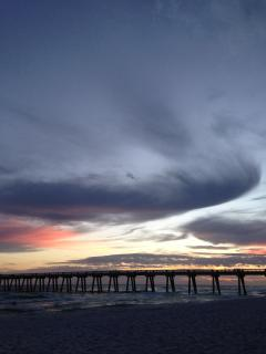 Sunset over Navarre Pier
