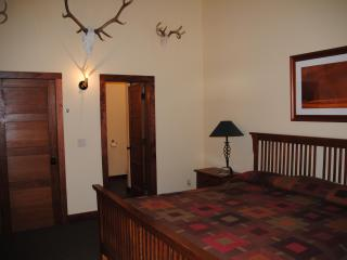 The Buffalo Room.  Very spacious room with one king bed and private bath.  Private exit to the deck.