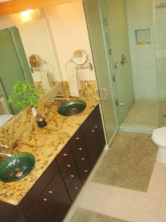 Master Bath, Clawfoot Tub, Steam Shower, Skylight, Granite, Double Sinks
