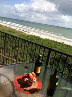 Wine and Fruit on the Balcony Anyone?