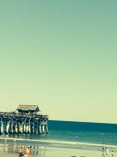 View of cocoa beach pier