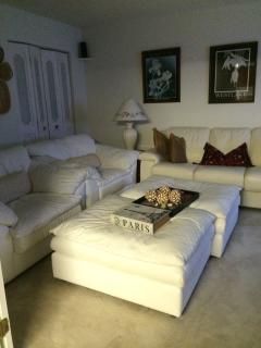 More views Of comfort queen size inner spring mattress in Italian leather sofa, ottomans,chairs