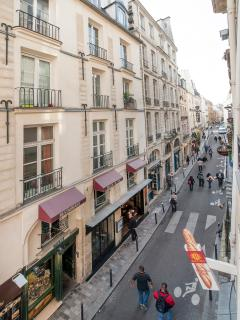 The view giving on the rue Saint André des Arts