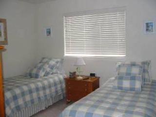 Downstairs twin beds, converts to King size bed