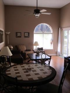 A longer view of the main floor living space.