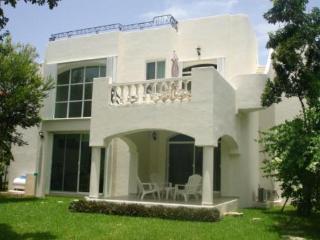 rear of yard of villa