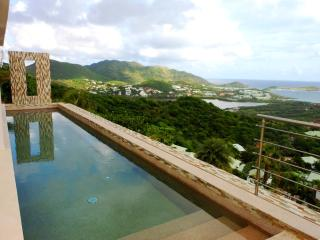 ORIENT SUNRISE... amazing views of the entire Orient Bay from this lovely new contemporary villa
