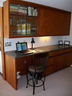The Laptop Station is a perfect spot to stay in touch while enjoying family time