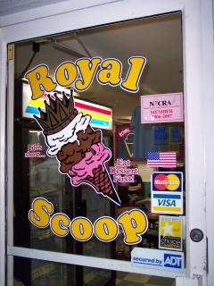 Royal Scoop Ice Cream...just down the street...a local's favorite!
