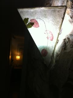 The Lamp on the stone wall