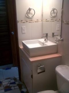 Newly upgraded bathroom in Gaviota