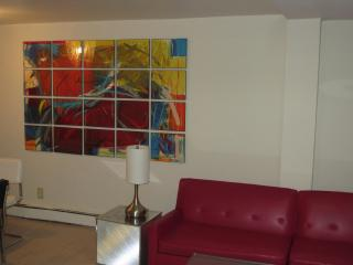 Andy Warhol living room painting