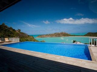 Villa Capri at Galley Bay Heights, Antigua - Ocean View, Pool, Immense Tropical Gardens, Five Islands Village