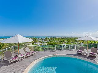 OCEAN VIEW VILLA @ GREEN CAY ... sunrise views over the ocean towards Tintamarre and St. Barth, Orient Bay