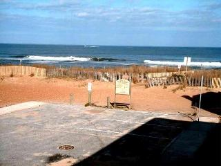 Deck view of the dunes and ocean