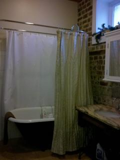 Bathroom With Clawfoot Tub/Shower