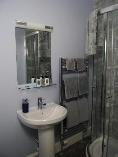 Blue shower room