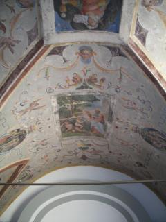 The frescoed ceiling