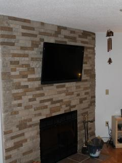 Fireplace with Mounted HD TV
