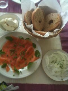 Bed and Breakfast Option-Salmon, Cream Cheese and Bagels