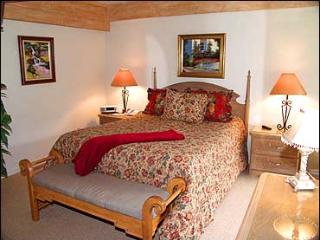 Master with Queen bed, private bath, TV, deck