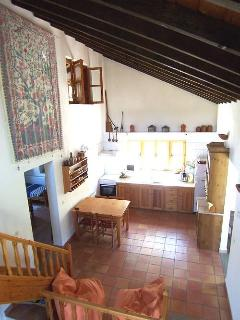 The kitchen area