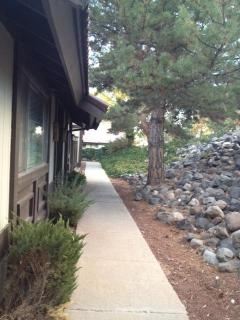 Walkway to entrance of townhome