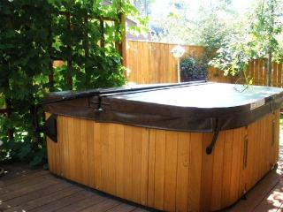 The hot tub.