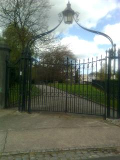 gate of bombed church in Clifton Hill