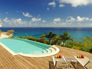 Wonderful retreat on the far side of the island with dramatic ocean views  WV ACA, St. Barthelemy