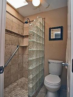Master bedroom walk-in shower.