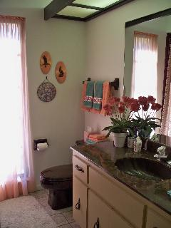 Guest Bath w/shower&tub combo ~ shared & located between the two guest bedrooms