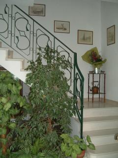 the inside staircase