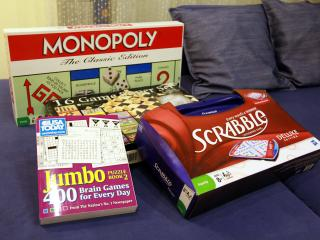 All kind of games for friends and family atmosphere...