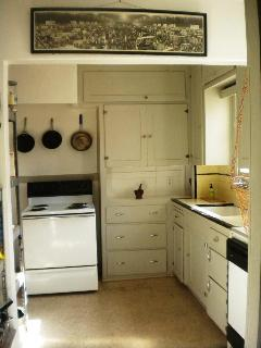 Kitchen with cooking utensils