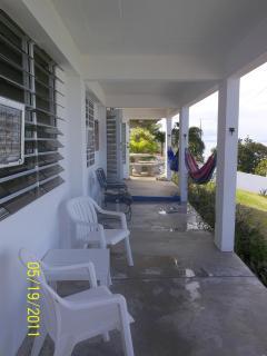 patio overlooking the Sea