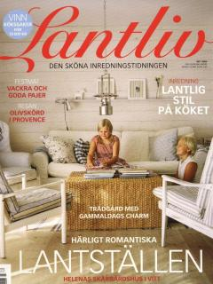 Our house on the cover of the interior magazine 'Lantliv'