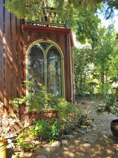Side yard and garden