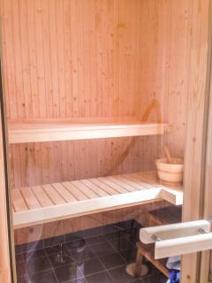 The newly build sauna in th guest house.
