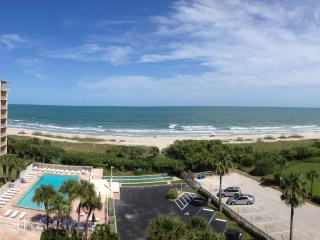 View from oceanfront living room balcony
