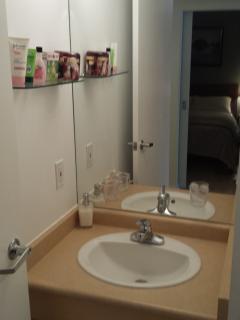 Apt.A Fully stocked bathroom